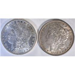 1896 & 1903 CH BU MORGAN DOLLARS