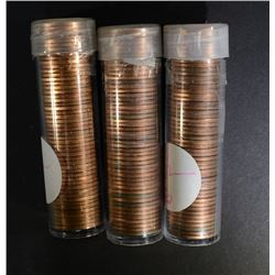 2- 1954 (1 w/49 cents 1 w/50) & 1954-S  GEM BU RED
