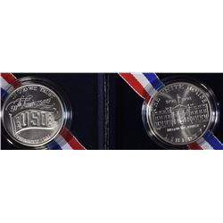 1991 USO & 1992 White House Unc. Silver Dollars