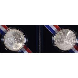 (2) 2007 Little Rock  Unc. Silver Dollar