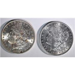 1886 & 1921 MORGAN DOLLARS