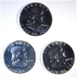 3-1960 PROOF FRANKLIN HALF DOLLARS