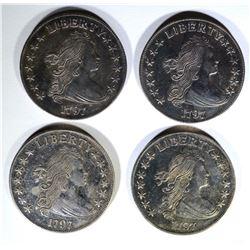 4-REPLICA 1797 BUST DOLLARS non silver