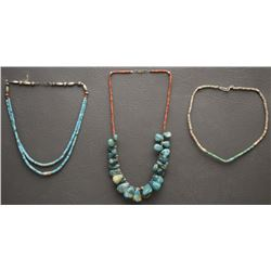 THREE PUEBLO NECKLACES