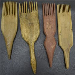 FOUR NAVAJO WEAVER COMBS