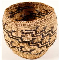 Vintage Step Design Yurok Basket