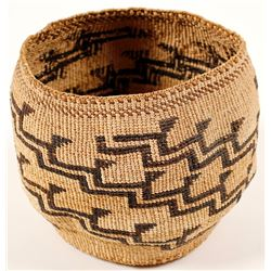 Vintage Step Design Yurok Basket