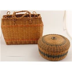 Two Colored Northeastern Basket Duo