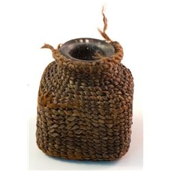 Ink Bottle w/ Woven Covering (Possibly Paiute)