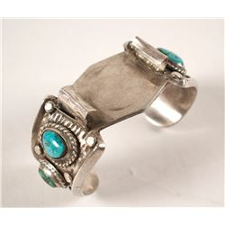 Navajo Watch Bracelet with Turquoise