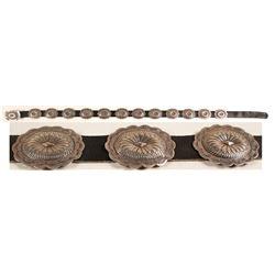 Sterling Silver Concho Belt