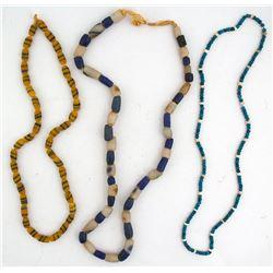 Three Vintage Trade Bead Necklaces