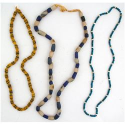 Three Vintage Trade Bead Necklaces