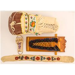 3 Cradleboards, and Beaded Belt
