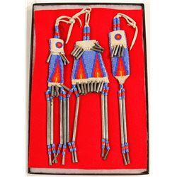 Plains Indian child's beaded belt set