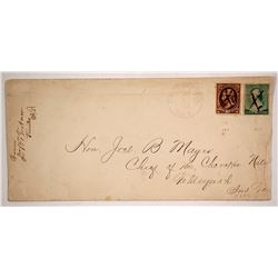 1888 Indian Territory Cover to the Chief of the Cherokee Nation