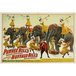 Buffalo Bill - Pawnee Bill 1909 Poster