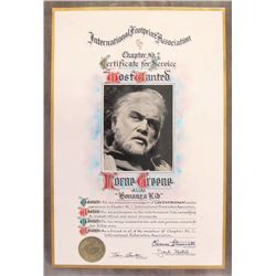 Lorne Greene Award