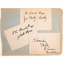 The Ranch Boys Autograph Trio
