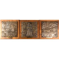 Bronze Plaques with Western & Cowboy Themes (3)