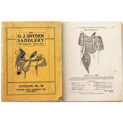 Original Snyder Saddlery Catalog