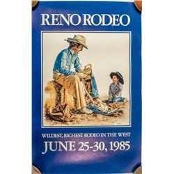 1985 Reno Rodeo Poster