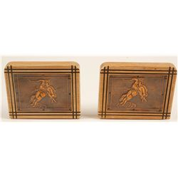 Vintage Cowboy Bookends