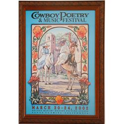 Cowboy Poetry & Music Festival Framed Poster
