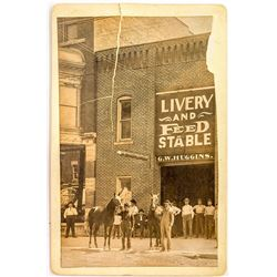 Livery and Feed Stable Cabinet Card