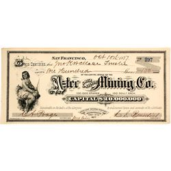 Aztec Gold and Silver Mining Company Stock Certificate