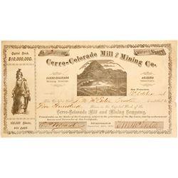 Cerro-Colorado Mill & Mining Company Stock Certificate