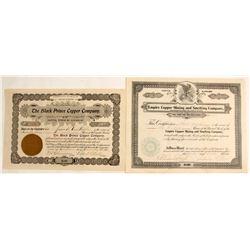 Two Johnson District, Arizona Stock Certificates
