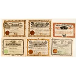 Six Different Maricopa County Stock Certificates