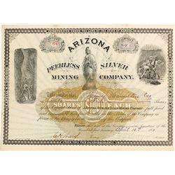 Arizona Peerless Silver Mining Company Stock Certificate