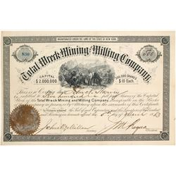 Total Wreck Mining & Milling Company Stock Certificate