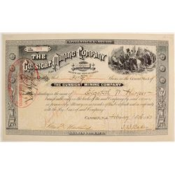 Gunsight Mining Company Stock Certificate