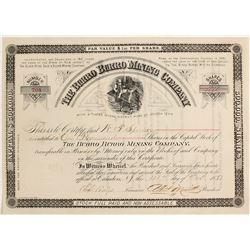 The Burro Burro Mining Company Stock Certificate