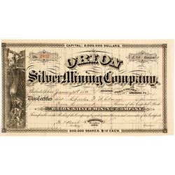 Orion Silver Mining Company Stock Certificate