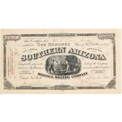 Southern Arizona Mining & Milling Company Stock Certificate