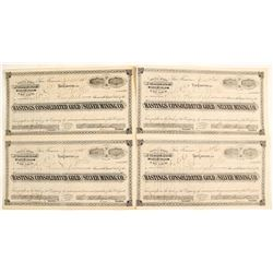 Hastings Consolidated Gold & Silver Mining Company Stock Certificates