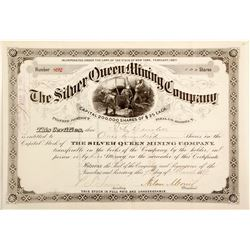 Silver Queen Mining Company Stock Certificate