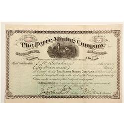 Ferre Mining Company Stock Certificate
