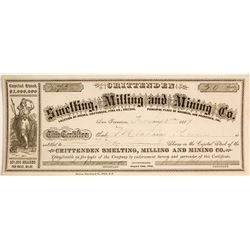 Crittenden Smelting, Milling, and Mining Company Stock Certificate