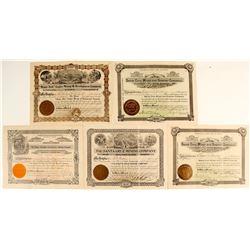 Five Patagonia District, Arizona Stock Certificates