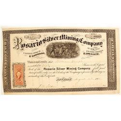 Rosario Silver Mining Company Stock Certificate