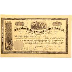 Union League Silver Mining Company Stock Certificate