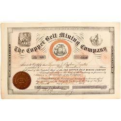 Copper Belt Mining Company Stock Certificate