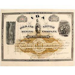 Ida Gold & Silver Mining Company Stock Certificate