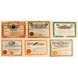 Six Jerome (and Area) District Mining Stock Certificates