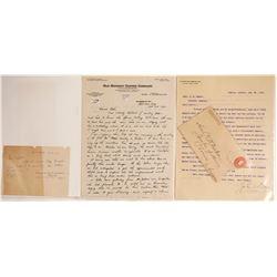 Arizona Territorial Letters on Mining Letterhead
